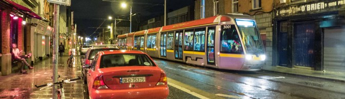 TRACKING THE LIGHT EXTRA: LUAS Red Line Ad Tram-17 September 2015.