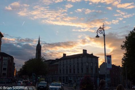 Sunset on Cornmarket Street.