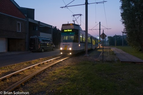 Knokke terminus at dusk. exposed with a Lumix LX7.
