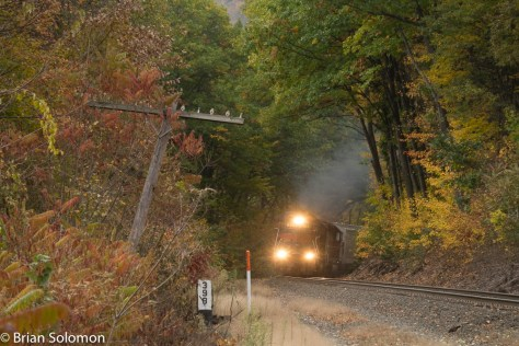 Pan Am's EDRJ works upgrade near Shelburne Falls, Massachusetts. Exposed with a FujiFilm X-T1 digital camera.