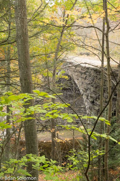 Like the ruins of an ancient empire, this historic stone arch looms above the West Branch Westfield River deep in the forest near Middlefield, Massachusetts.