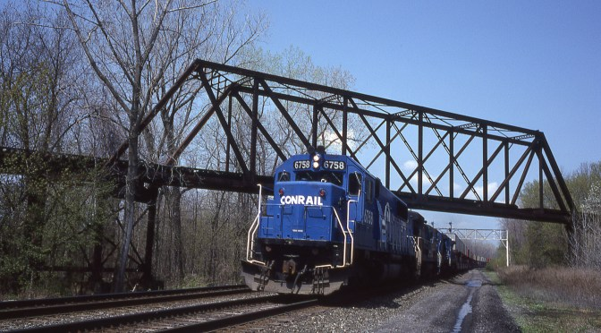 Four Classic Kodachromes: Ghost Railroad and the Water Level Route—May 13, 1989.