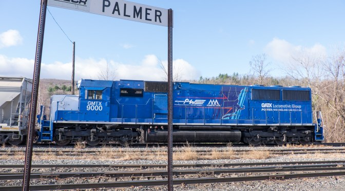 Tracking the Light Extra: 5 Photos—SD60 with Map in Palmer, Massachusetts, November 14, 2015.