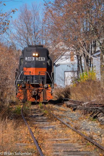 Pan Am Railway's F1-1 is a local based out of Fitchburg and works this rarely used section of line as required.