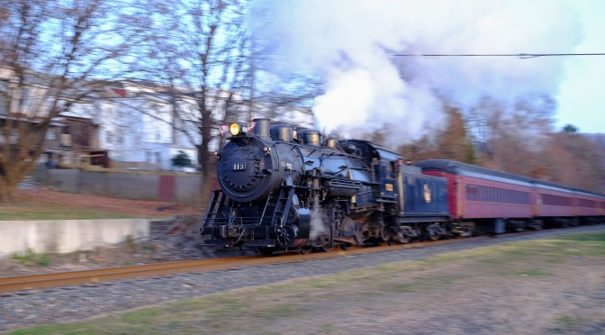 Santa Trains with Central Railroad of New Jersey Steam at Minersville .