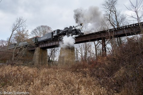 Black River & Western, former Great Western 2-8-0 number 60. Exposed on December 19, 2015 using a FujiFilm X-T1 digital camera fitted with a Zeiss 12mm Touit lens. File adjusted using Lightroom to control contrast and color balance.