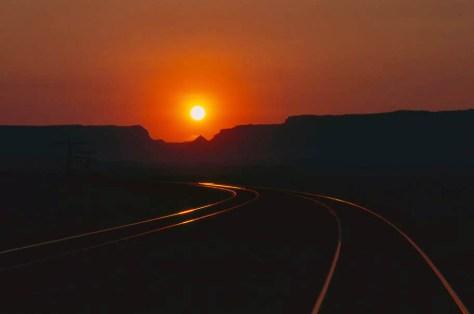 1990s smoky sunrise at Solitude, Utah.