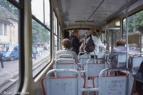 Comfort class on a Tatra. Exposed with my Contax G2 rangefinder on Sensia 100 slide film.