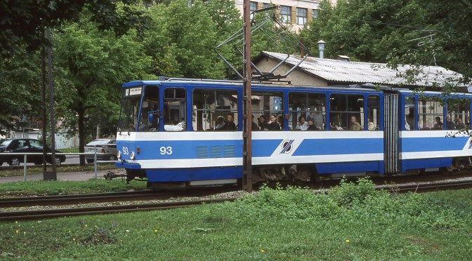 The Lost Slide File: Trams ala Baltic: Tallinn, Estonia 2001