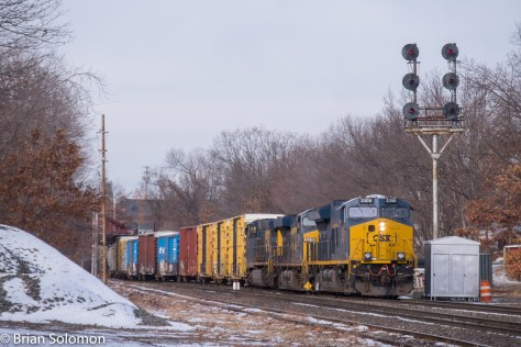Pan-Am Railways symbol SEPO typically operates with run-though locomotives. The eastward freight is pictured at Ayer, Massachusetts. Fuji X-T1 digital camera.