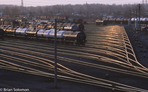 Conrail yard Niagara Falls NY April 1989 Brian Solomon 661680