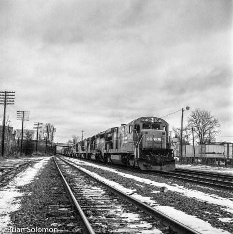 A few easy adjustments in Lightroom and I was able to extract most of the detail I saw back on that March 1984 day. Now I have some suitable dramatic images from a favorite period on the railroad.