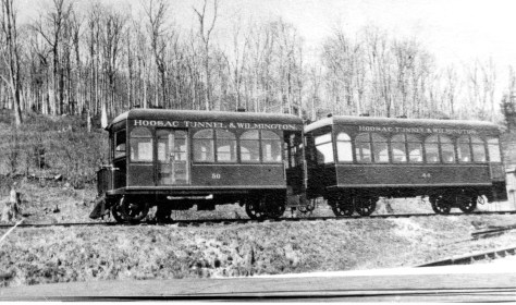 We know that this is a Hoosac Tunnel & Wilmington railcar and trailer. It looks relatively new. All other information is a mystery (there's nothing on my print, not even the photographer's name.) The photo is from my collection. Again I can speculate, but that's not the point. A little bit of information in the form of a caption would have gone a long way.