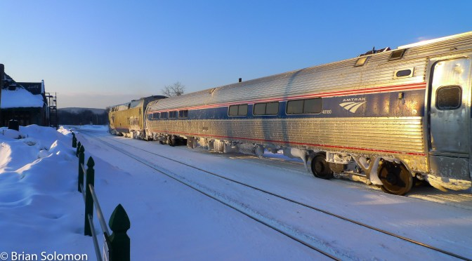 Tracking the Light Looks Back: Five Years Ago, Amtrak's Vermonter at Palmer.