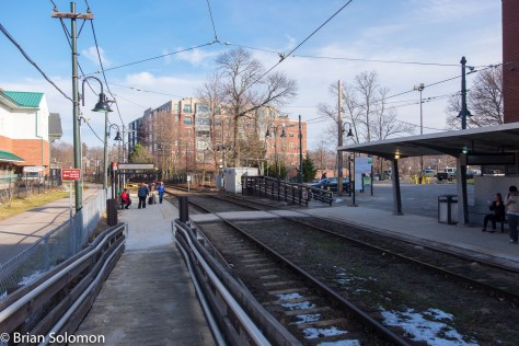 Milton from approximately the same angle as the 1979 view above. More than just the tracks have changed. I exposed this with my FujiFilm X-T1 digital camera at the end of January 2016.