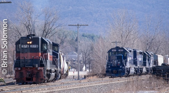 Pan Am Railways on the Boston & Albany—February 2016.