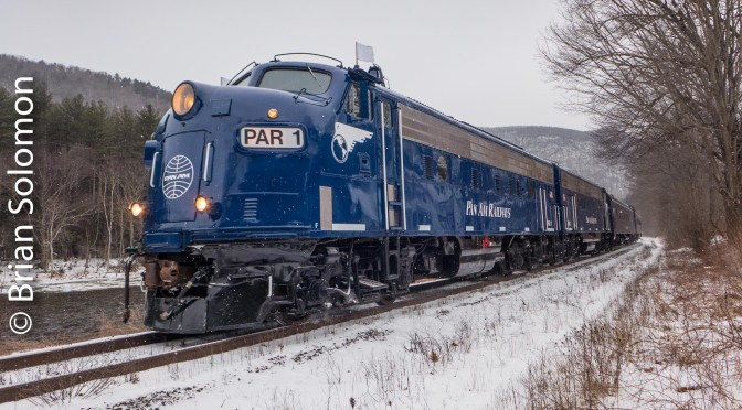 Pan Am Railway's EMD F-Units in the Snow; a Second Look.