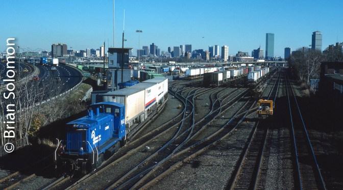 Conrail Classic: Beacon Park Yard, November 1987.