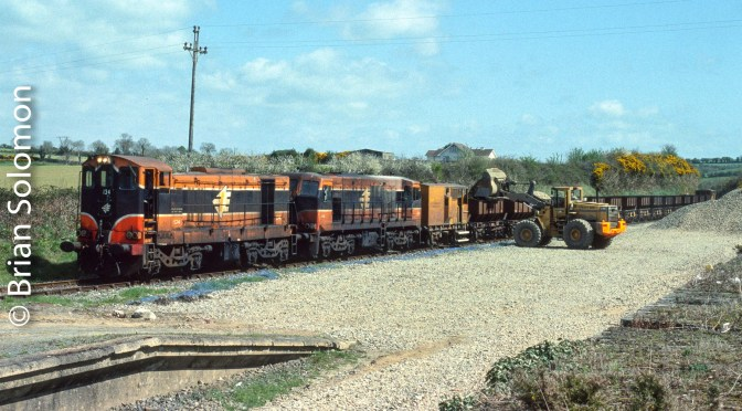 Irish Rail; Mixed pair at Campile, County Wexford—April 2006.