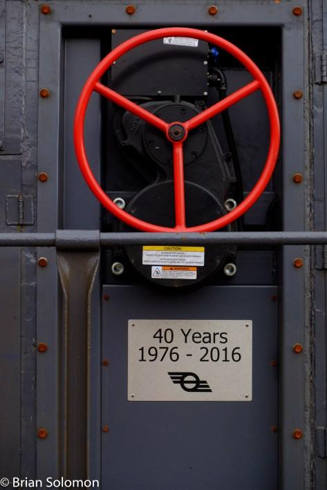 Irish Rail 076 with 40 year plate.
