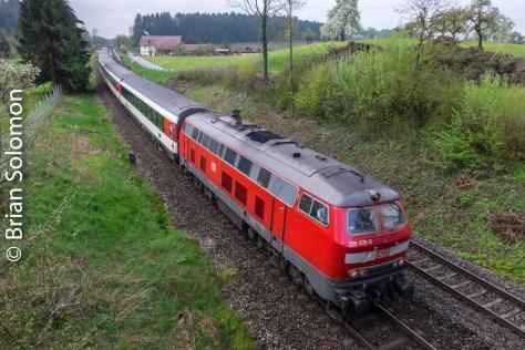 Rabbit down grade racing toward Lindau.