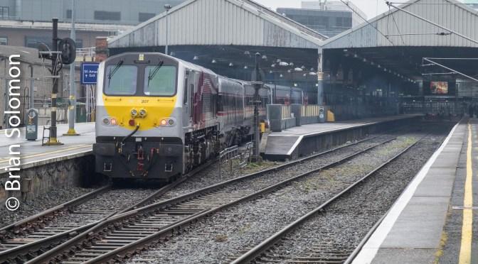 Belfast-Dublin Enterprise arriving Connolly Station.