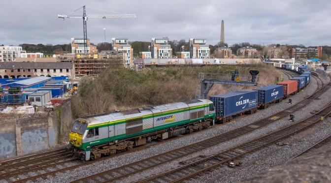 Alternate Angle at Islandbridge Junction; Irish Rail's IWT Liner.