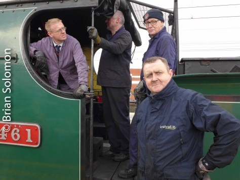 Footplate crew at Connolly.