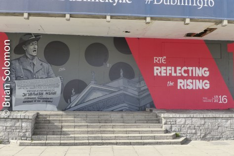 1916 commemoration posters near the Four Courts, May 2016.