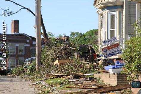 Ruined buildings on Washington Street, Monson on June 3, 2011.