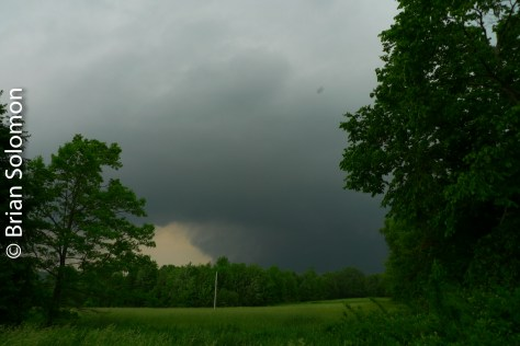 Tornadic sky, Monson, Massachusetts shortly before 5pm on June 1, 2011. Lumix LX3 photo.