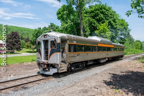 On Saturday May 28, 2016, Berkshire Scenic Railway's classic RDC-1 worked between North Adams and Renfrew, Massachusetts on the old Boston & Albany branch. Exposed with a FujiFilm X-T1; contrast adjusted in post processing.