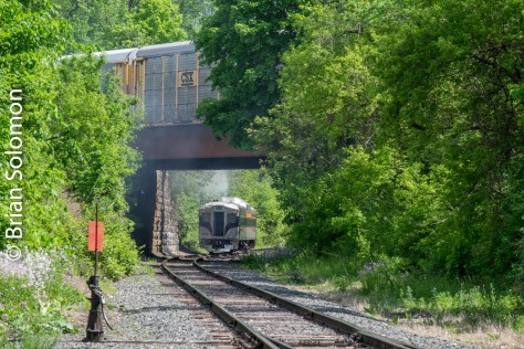Where else does the old Boston & Albany cross below the old Boston & Maine? Here we have trains top and bottom.