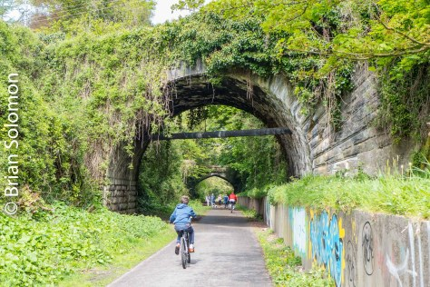 Cork, Blackrock & Passage was originally a broad gauge line, later converted to a largely double track 3 foot gauge suburban railway (similar in concept to the Boston, Revere Beach & Lynn). Now a popular urban cycle path.