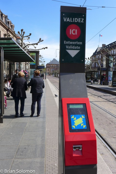 Like with many modern tram systems, in Strasbourg you must validate your paper ticket before boarding the car. I noted teams of fare enforcement specialists intimidating non-paying passengers.