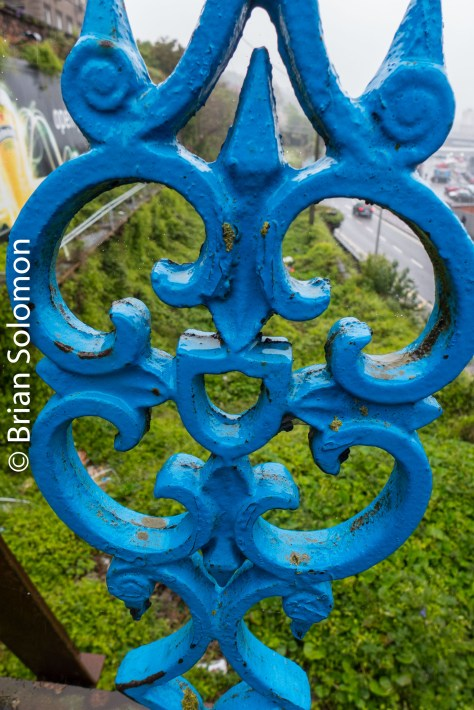 Detail of the iron work on the foot bridge near Summer Hill station.