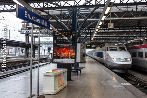 TGV arriving at Brussels Midi. Today, TGV operated to a variety of countries across Europe including Belgium, Germany, Switzerland, and Spain.