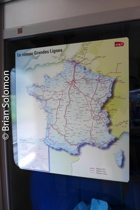 TGV map.