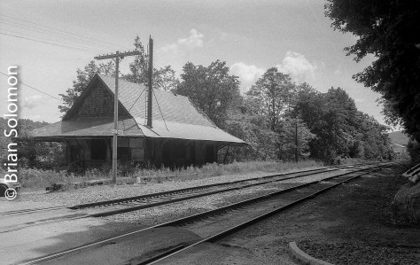 The trees are taller at Eagle Bridge, but this station looks today much as it has looked for at least three decades. I've feature this in my book; Railway Depots, Stations and Terminals.