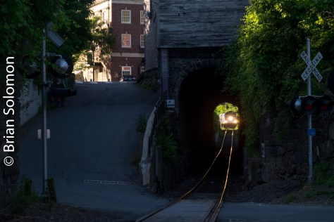 The classic Vermont setting of the Bellows Falls Tunnel fascinates photographers and model railroaders.