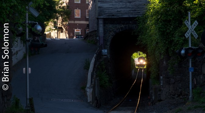 Amtrak Special at the Bellows Falls Tunnel.