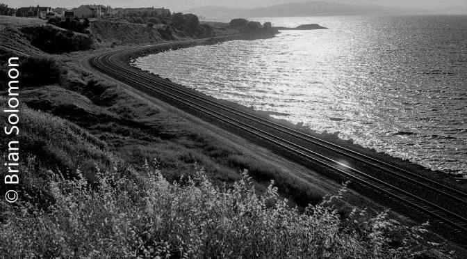 Southern Pacific Tracks at Sunset—May 17, 1991.