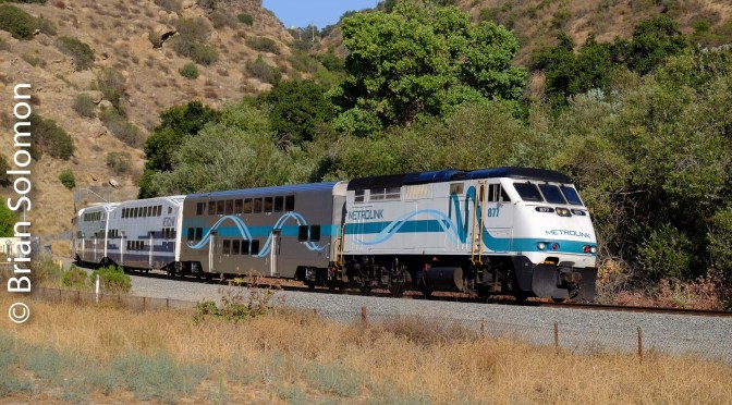 Photographing Passenger Trains on California's Santa Susana Pass.