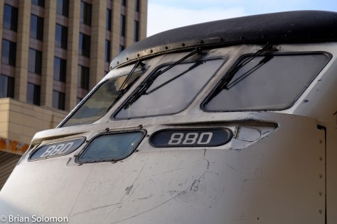 Metrolink 880 has evidence of a collision. The nose section is made of of fiberglass and designed to help protect the crew.