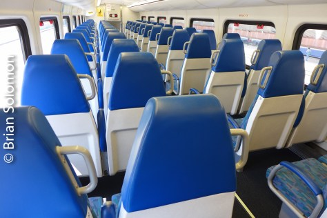 Interior view of a Rotem double deck