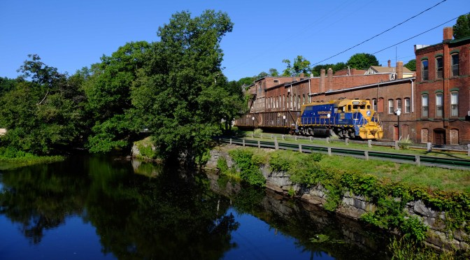 New England Central at Stafford Springs—August 23, 2016.