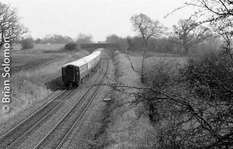 Trailing view of the special at Waterton, UK in March 2007.