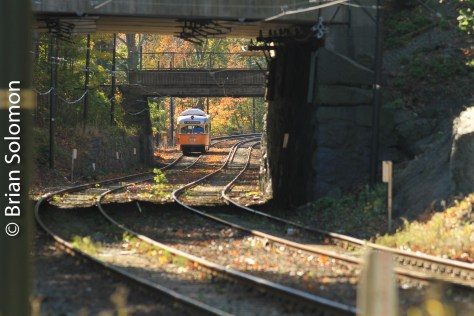 MBTA's Matapan-Ashmont line on October 25, 2014.