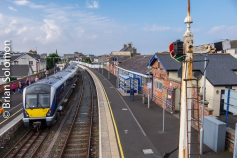 A trailing view of the Derry-bound train. Exposed using my FujiFilm X-T1 digital camera.