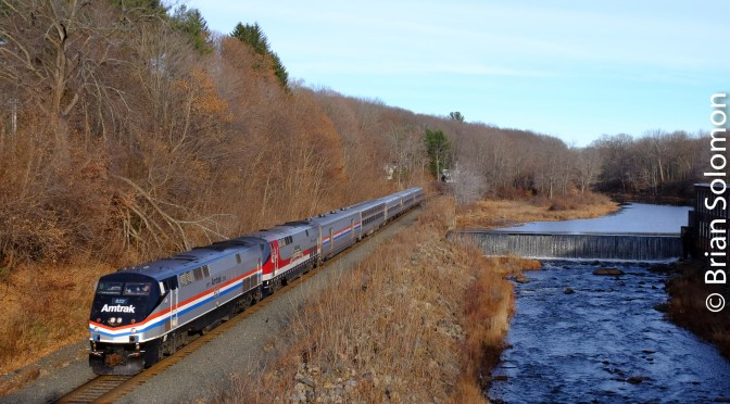 Amtrak's Lake Shore Limited with Two Heritage Units—November 23 2016.